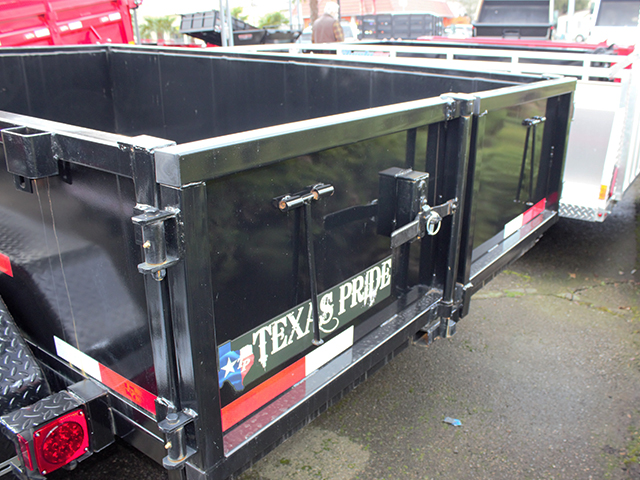 6513.E. 2021 Texas Pride 6 ft. x 10 ft. dump trailer from Town and Country Truck and Trailer Sales, Kent (Seattle), WA.