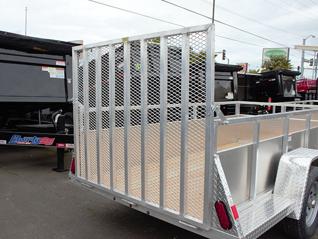 6585.D. 2021 Snake River 5 ft. x 8 ft. aluminum EZ utility trailer from Town and Country Truck and Trailer Sales, Kent (Seattle), WA.