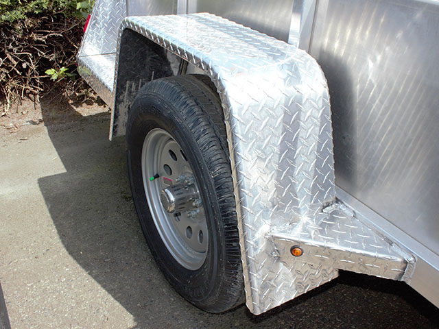 6586.D. 2021 Snake River 5 ft. x 8 ft. aluminum utility trailer from Town and Country Truck and Trailer Sales, Kent (Seattle), WA.