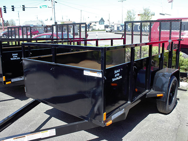 6591.B. 2021 Snake River 5 ft. x 10 ft. steel utility trailer from Town and Country Truck and Trailer Sales, Kent (Seattle), WA.