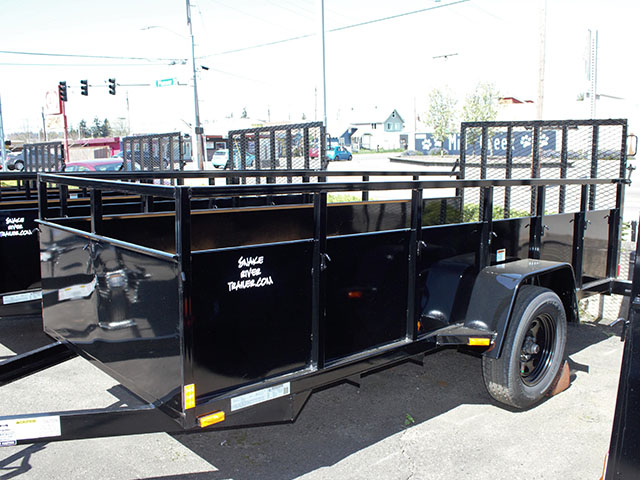6595.B. 2021 Snake River 5 ft. x 12 ft. steel utility trailer from Town and Country Truck and Trailer Sales, Kent (Seattle), WA.