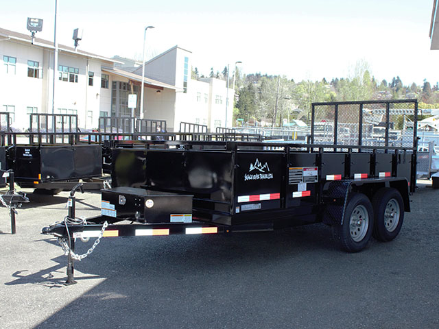 6597.G. 2021 Snake River 6 ft. x 12 ft. double axel dutility trailer from Town and Country Truck and Trailer Sales, Kent (Seattle), WA.