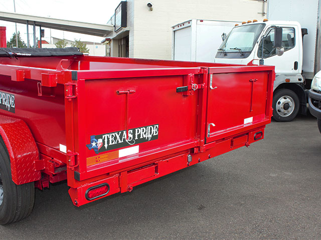6618.E. 2021 Texas Pride 7 ft. x 12 ft. dump trailer from Town and Country Truck and Trailer Sales, Kent (Seattle), WA.