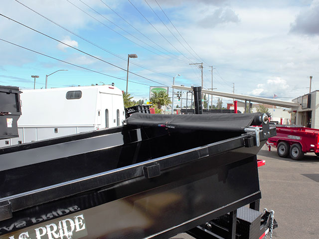 6619.C. 2021 Texas Pride 6 ft. x 12 ft. dump trailer from Town and Country Truck and Trailer Sales, Kent (Seattle), WA.