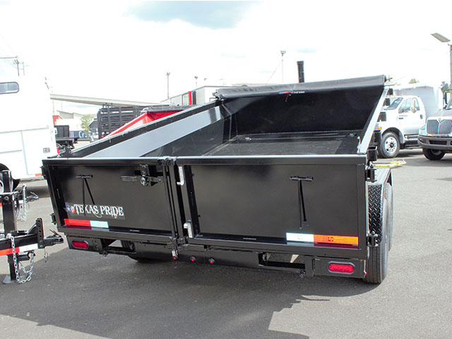 6619.E. 2021 Texas Pride 6 ft. x 12 ft. dump trailer from Town and Country Truck and Trailer Sales, Kent (Seattle), WA.