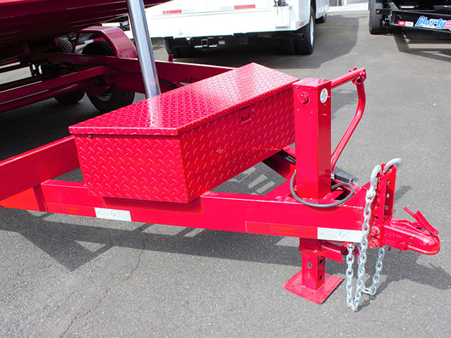 6620.B. 2021 Texas Pride 7 ft. x 14 ft. dump trailer from Town and Country Truck and Trailer Sales, Kent (Seattle), WA.