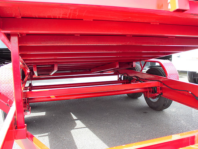 6620.D. 2021 Texas Pride 7 ft. x 14 ft. dump trailer from Town and Country Truck and Trailer Sales, Kent (Seattle), WA.