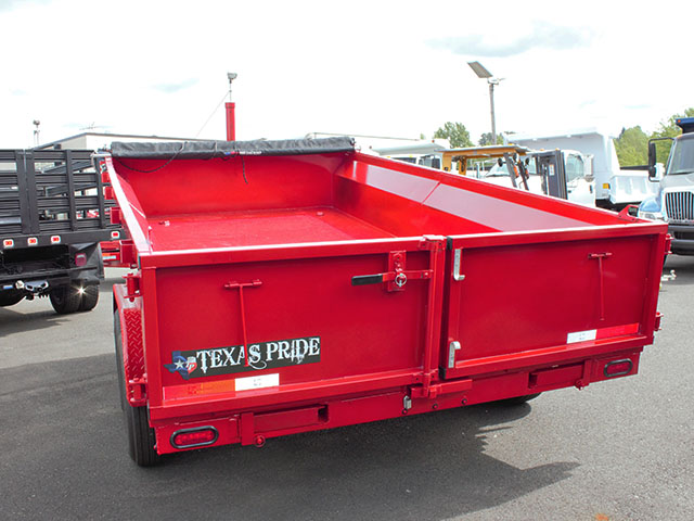 6620.E. 2021 Texas Pride 7 ft. x 14 ft. dump trailer from Town and Country Truck and Trailer Sales, Kent (Seattle), WA.
