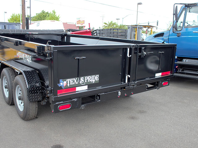 6621.E. 2021 Texas Pride 7 ft. x 14 ft. dump trailer from Town and Country Truck and Trailer Sales, Kent (Seattle), WA.