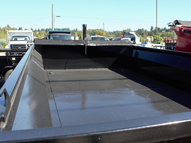 6653.C. 2021 Texas Pride 7 ft. x12 ft. dump trailer from Town and Country Truck and Trailer Sales, Kent (Seattle), WA.