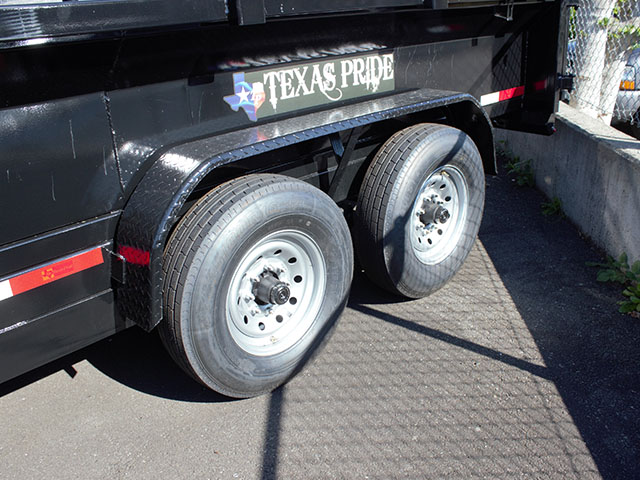 6661.D. 2021 Texas Pride 7 ft. x12 ft. dump trailer from Town and Country Truck and Trailer Sales, Kent (Seattle), WA.