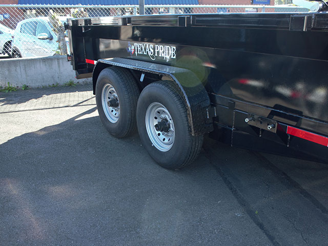 6662.E. 2021 Texas Pride 7 ft. x 14 ft. dump trailer from Town and Country Truck and Trailer Sales, Kent (Seattle), WA.