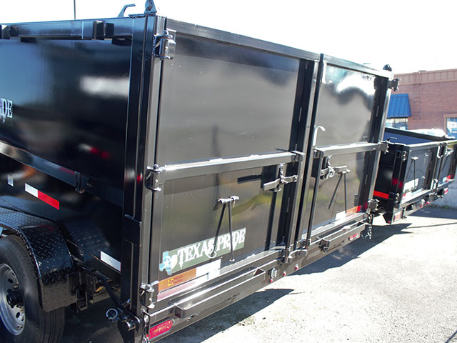 6665.D. 2021 Texas Pride 7 ft. x 14 ft. x 48 inch tall sided dump trailer from Town and Country Truck and Trailer Sales, Kent (Seattle), WA.