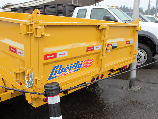 6667.C. 2021 Liberty 7x14 dump trailer from Town and Country Truck and Trailer Sales, Kent (Seattle), WA.